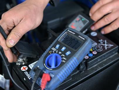 Batterietest und -Wechsel